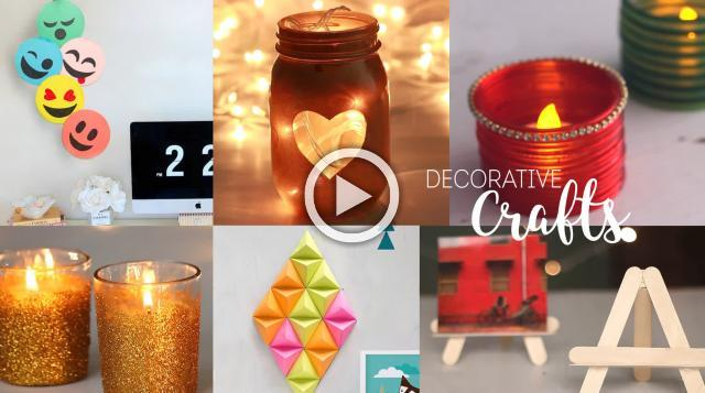 6 Home Decorative Craft Ideas