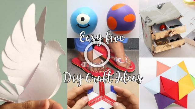 Easy 5 DIY Craft Ideas