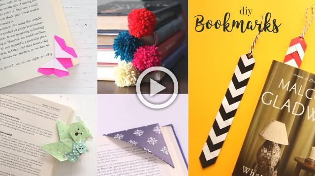 6 Easy DIY Bookmarks