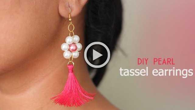 DIY Pearl Tassel Earring