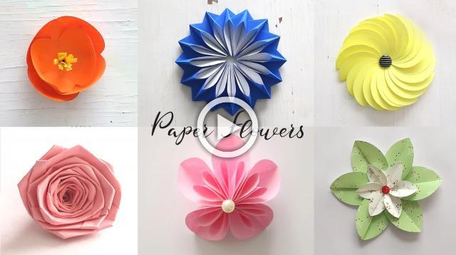 Best of Last Summer 6 Easy Paper Flowers