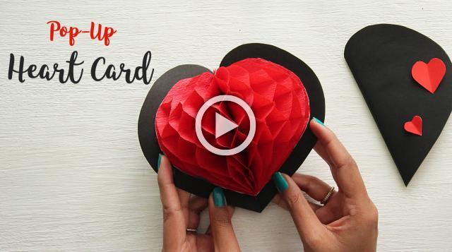DIY Pop-up Heart Card