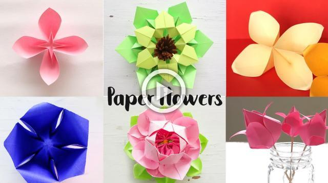 Easy paper flowers flower making diy 6 easy paper flowers flower making diy mightylinksfo