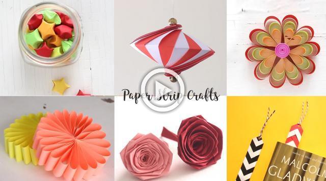 6 Easy Paper Strip Crafts
