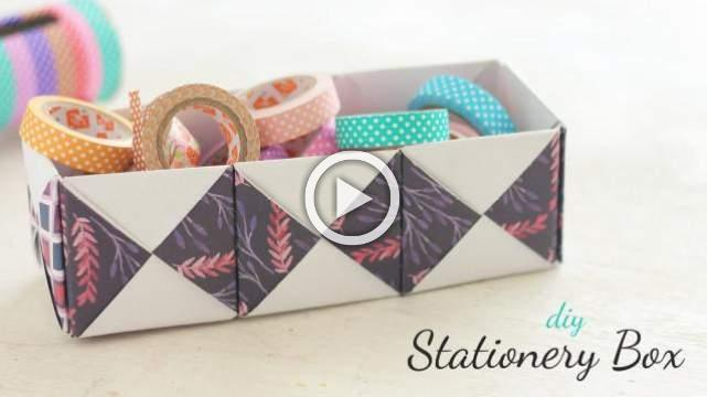DIY Stationery Box
