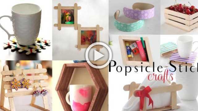 Top 10 DIY Popsicle Stick Craft Compilation   Craft Ideas   Ventunoart