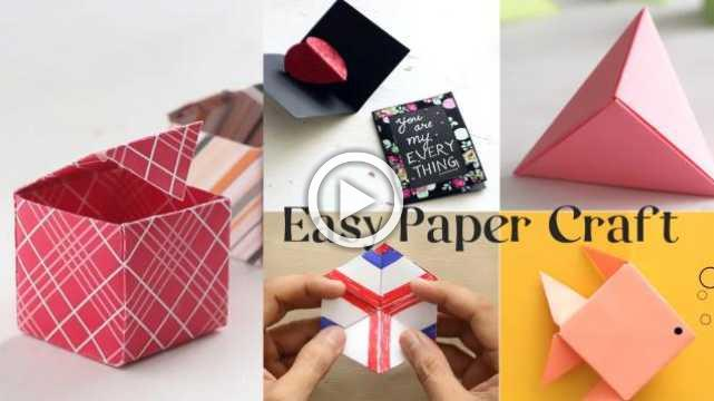 5 Easy Paper Crafts