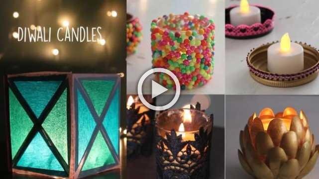 DIY Diwali Candles