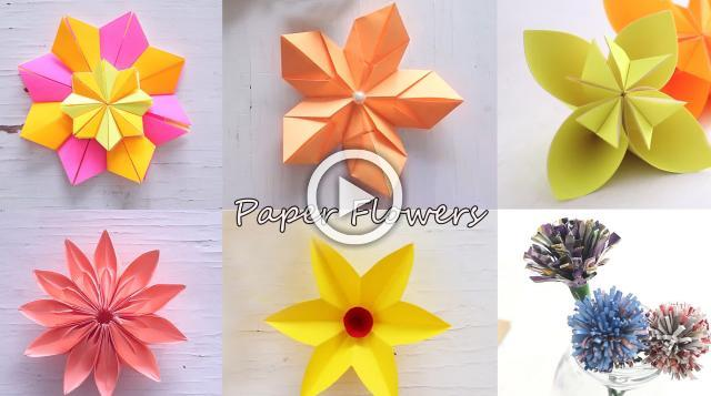 6 easy paper flowers flower making diy mightylinksfo