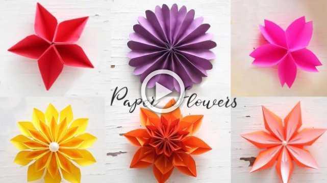 6 Easy Paper Flowers | Flower Making
