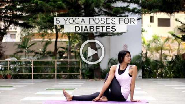 5 Yoga poses for Diabetes