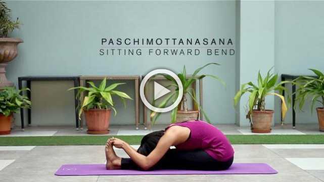 How to do Paschimottanasana - Sitting forward bend