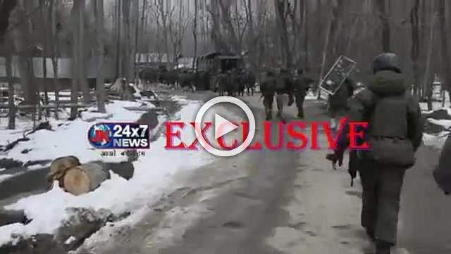 Encounter underway between militant and security forces in Pulwama district