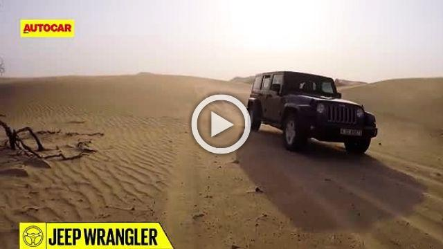 Dune bashing in Dubai in a Jeep Wrangler
