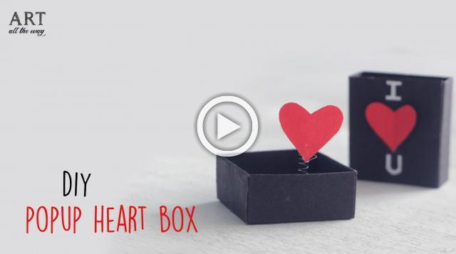 DIY Pop-up Heart Box