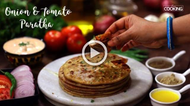 Onion and Tomato Paratha