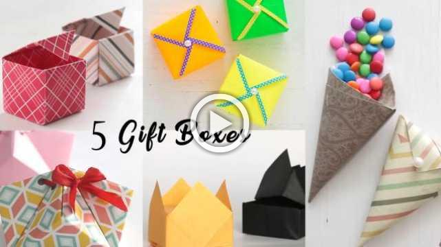 5 Easy Gift Boxes
