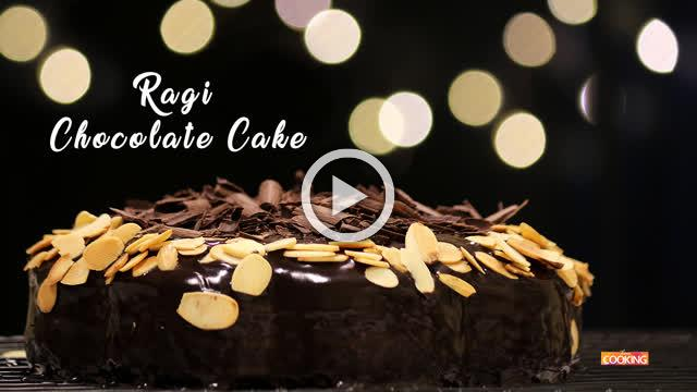 Eggless Ragi Chocolate Cake | Pressure Cooked