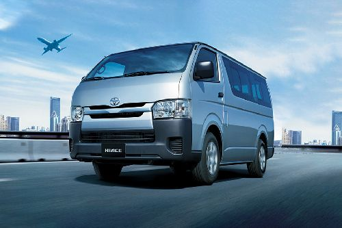 Hiace Van Front angle low view