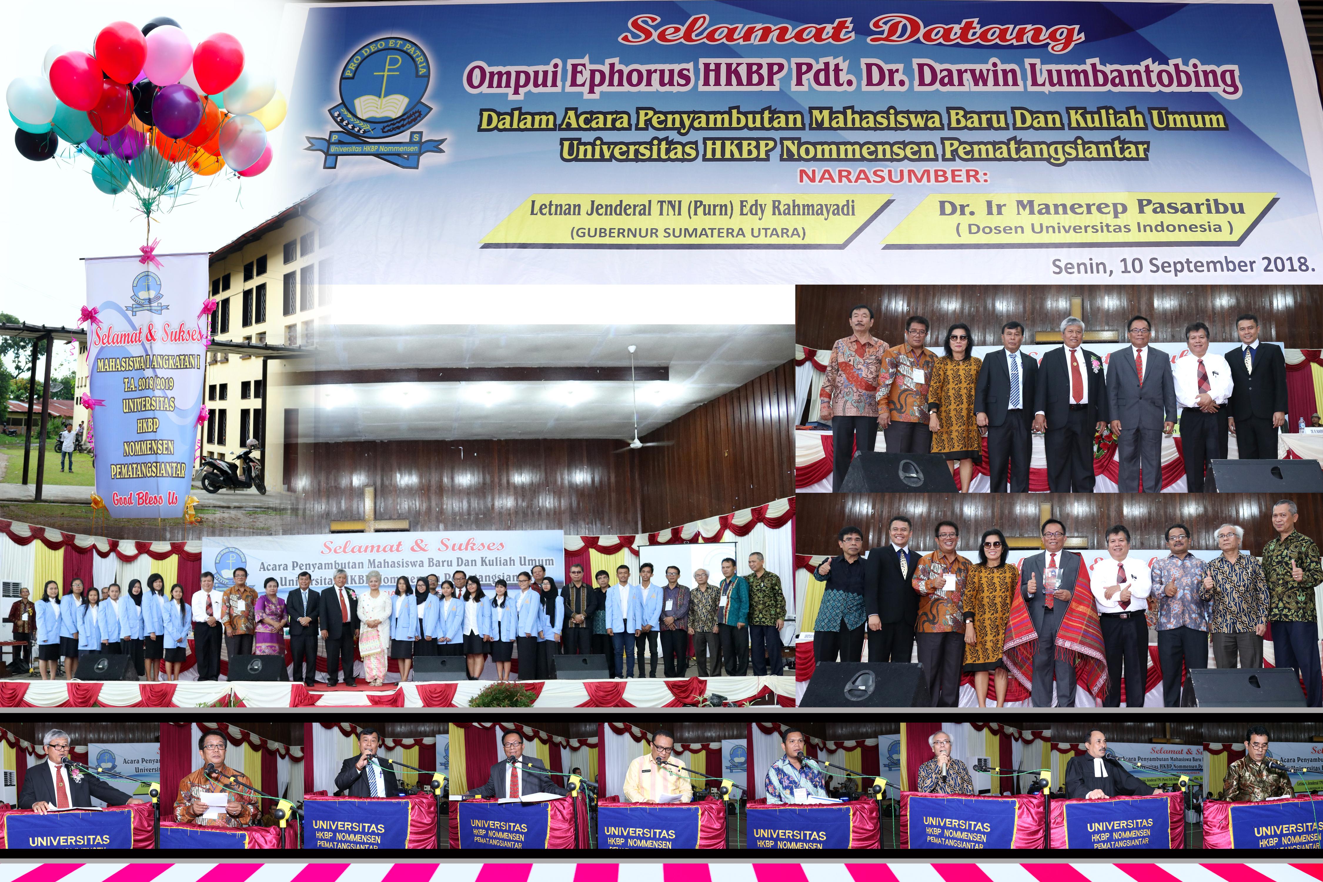 Acara Penyambutan Mahasiswa Baru T.A. 2018/2019 dan Kuliah Umum di Universitas HKBP Nommensen Pematangsiantar