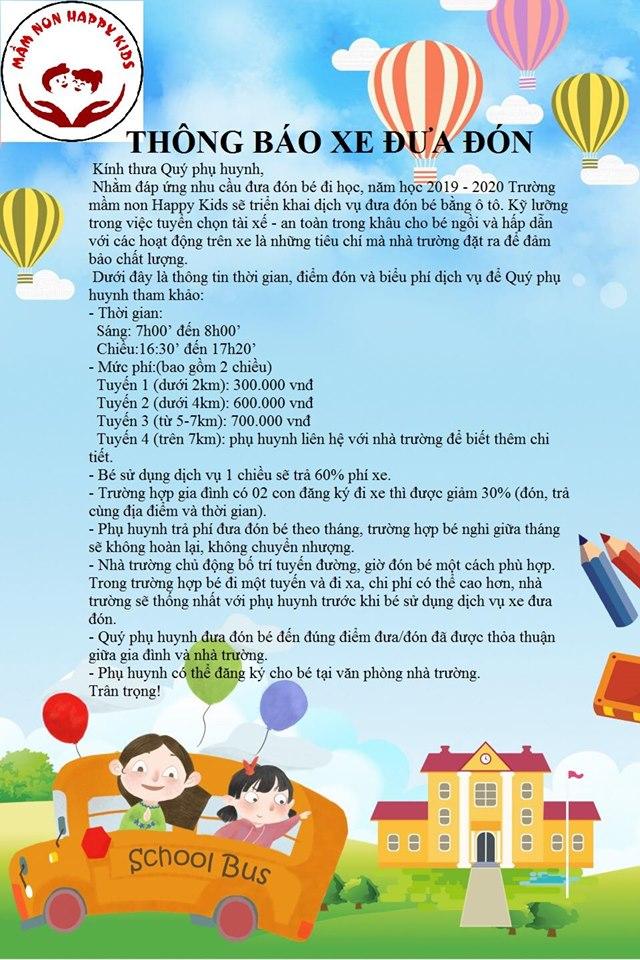 ưu đãi tuyển sinh của Trường mầm non Happy Kids Montessori - Kim Chung, Hoài Đức