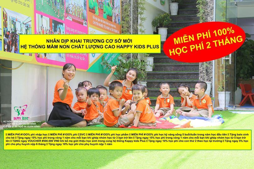ưu đãi tuyển sinh của Trường mầm non Chất Lượng Cao Happy Kids Plus (Cơ sở 2) - Xuân Đỉnh