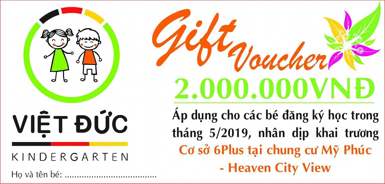 Quà tặng cho bé nhân dịp khai trương cơ sở 6 Plus
