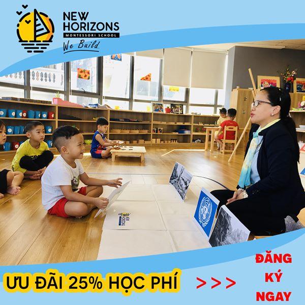 ưu đãi tuyển sinh của Trường mầm non New Horizons Montessori (Chân Trời Mới) - Mỹ Đình 2
