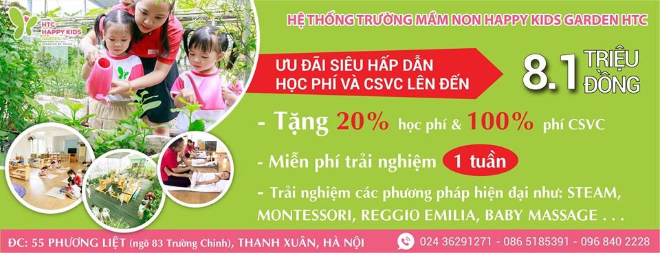 ưu đãi tuyển sinh của Trường mầm non tư thục HTC Happy Kids Garden - Phương Liệt