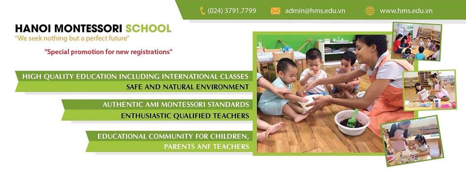 ưu đãi tuyển sinh của Trường mầm non Hà Nội Montessori - Dịch Vọng Hậu