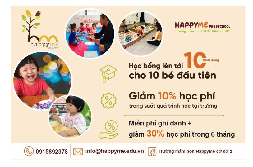 ưu đãi tuyển sinh của Trường mầm non Happy Me Preschool - Nghĩa Đô