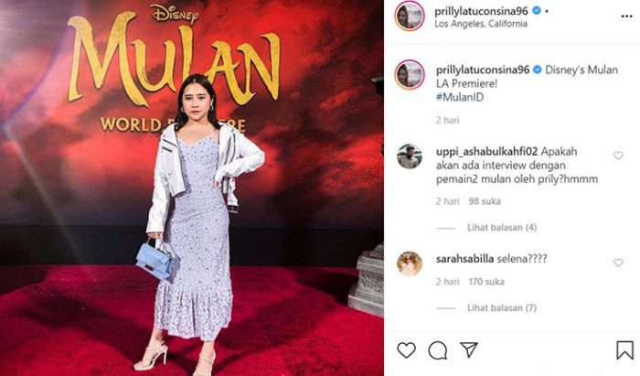 Prilly Latuconsina Film Mulan