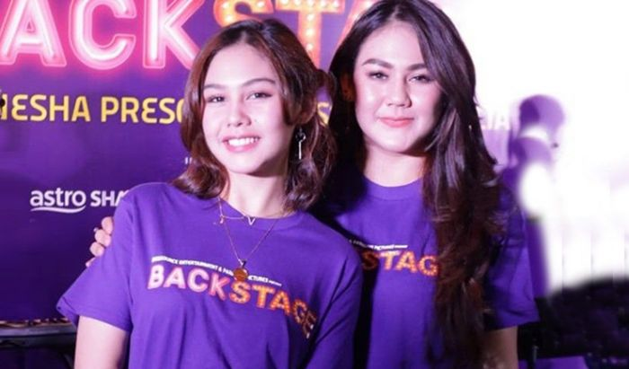 Sissy Pricillia dan Vanesha Prescilla Film Backstage