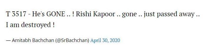 Rishi Kapoor Meninggal Dunia