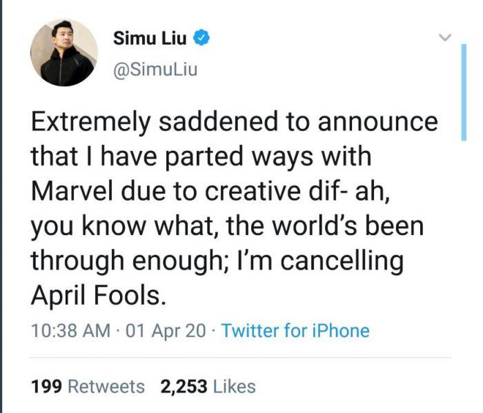 Simu Liu Shang-Chi Marvel