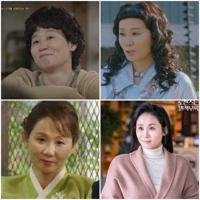 Wajah Kim Sun-young dalam berbagai judul drama.