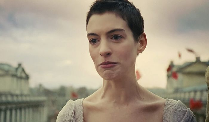 Anne Hathaway di film Les Miserables.
