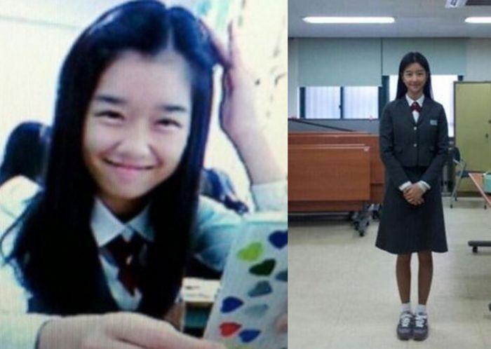 Ye-ji saat sekolah.