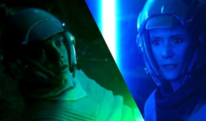 Luke dan Leia melatih kemampuan Lightsaber ketika muda.