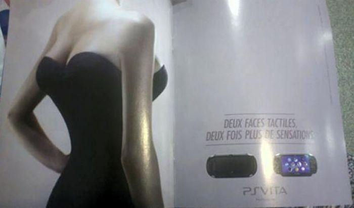 Iklan PSVita yang mengundang kontroversi.