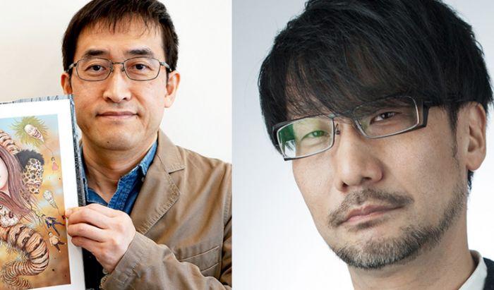 Junji Ito (kiri) dan Hideo Kojima (kanan).