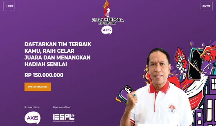 Halaman Pendaftaran Piala Menpora Esports 2020 AXIS