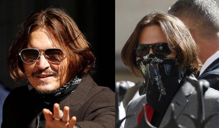 Depp saat menghadiri persidangan