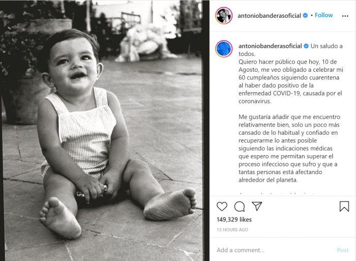 Antonio Banderas Positif Corona