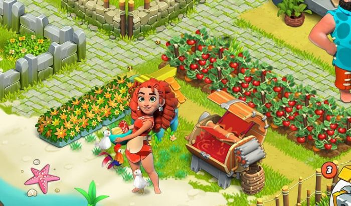 Menanam buah di Family Island.