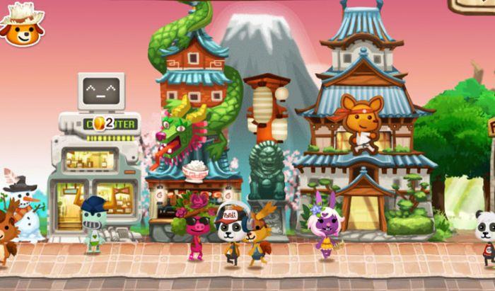 Menaikkan level bangunan untuk cari pelanggan di Happy Street.