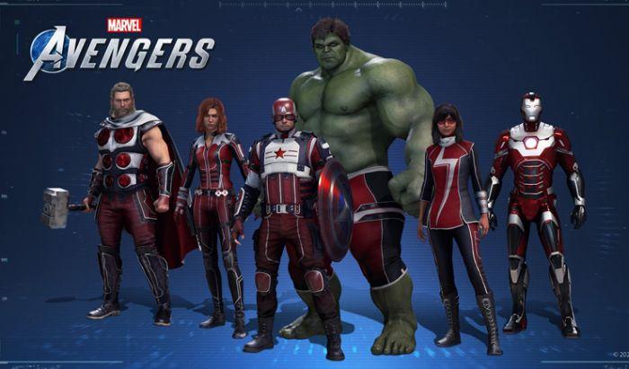 Kostum Verizon Up dari Marvel's Avengers.