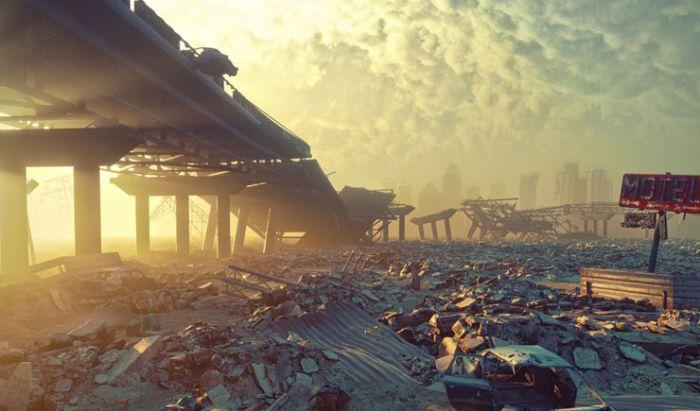 Ilustrasi apokalips di game Metro.
