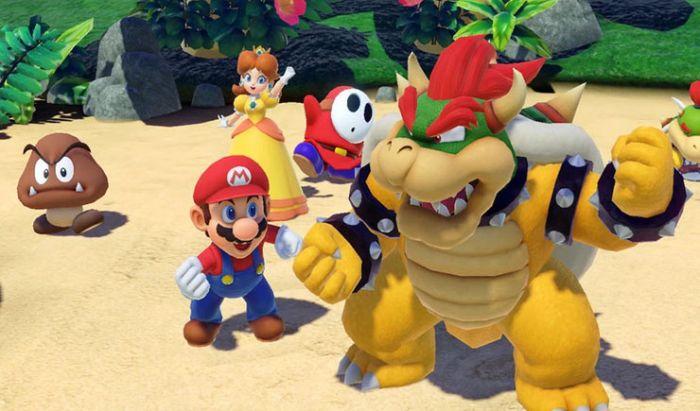 Banyak karakter yang bisa kita mainkan di Super Mario Party.