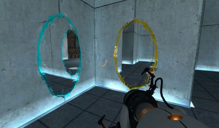 Portal memadukan platformer dan puzzle yang sangat interaktif.